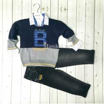 """Костюм для мальчиков темно-синего цвета bebus из 3-х предметов """"Bicycle"""""""