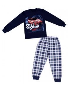 """Пижама для мальчиков синего цвета """"красное авто"""""""