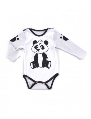 Боди для малышей с длинным рукавом панда
